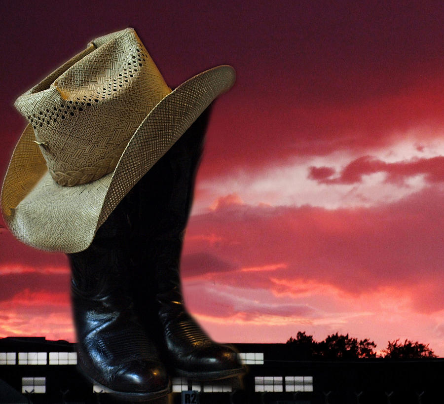West Photograph - Hat N Boots 11 by Chuck Shafer