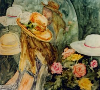 Hat Series Reflection Painting by Helen Hickey