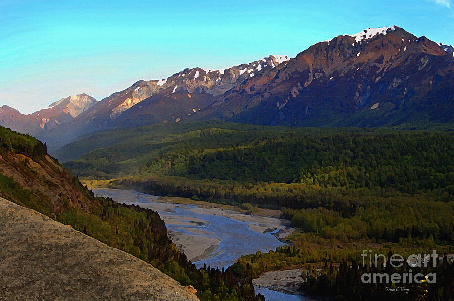 Pass Painting - Hatchers Pass Alaska by Diane E Berry
