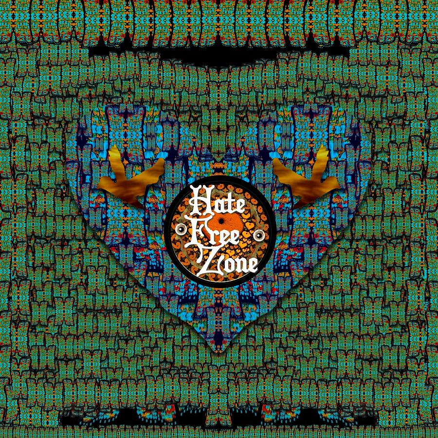 Hate Free Zone Mixed Media