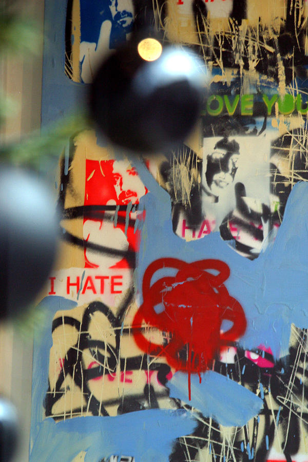 London Photograph - Hate Love Hate Love by Jez C Self