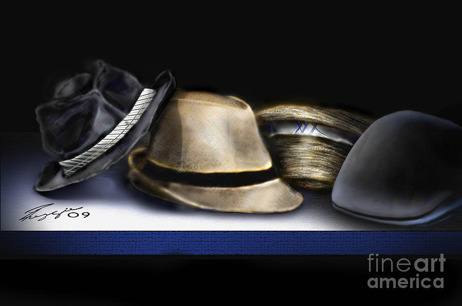 Still Life Painting Painting - Hats by Reggie Duffie