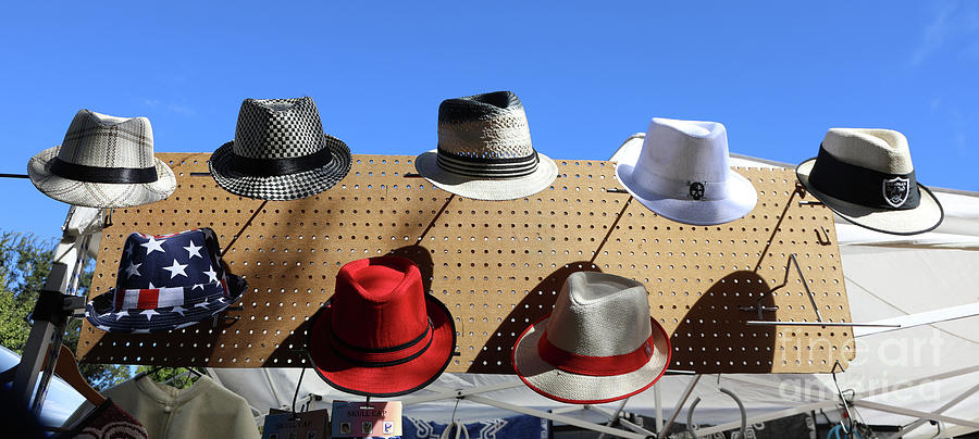 Dia De Los Muertos Photograph - Hats Selection Day Dead  by Chuck Kuhn