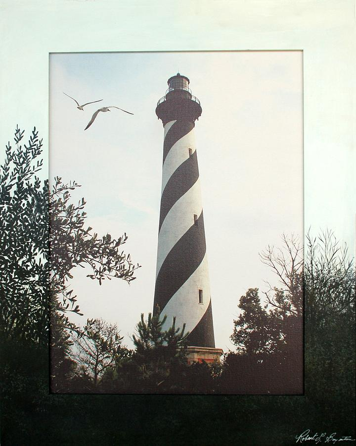 Hatteras Mixed Media - Hatteras Lighthouse by Robert Boynton
