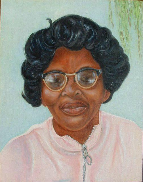 Portrait Painting - Hattie Bush by Gwendolyn Frazier