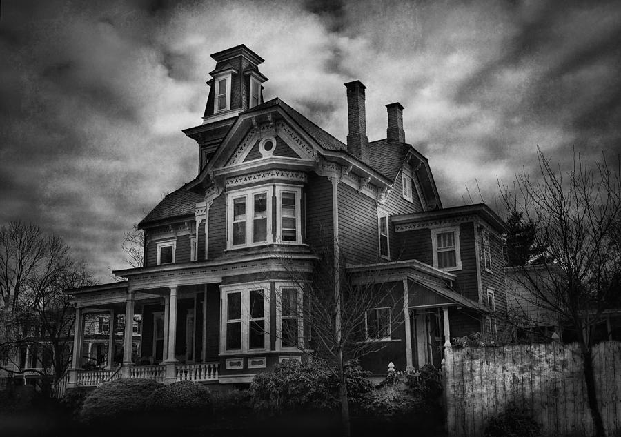 Hdr Photograph - Haunted - Flemington Nj - Spooky Town by Mike Savad