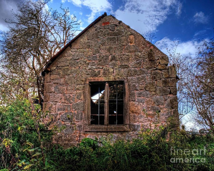 Old Photograph - Haunted House Hdr by Chris Smith