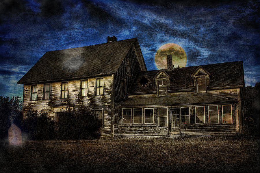 House Digital Art - Haunted Nights by Gary Smith