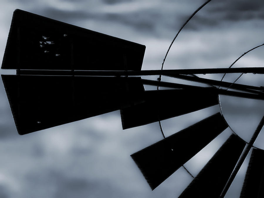 Ghostly Photograph - Haunted Windmill by Tony Grider
