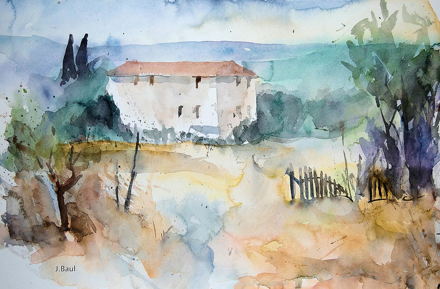 Haus In Der Toskana Painting By Johannes Baul