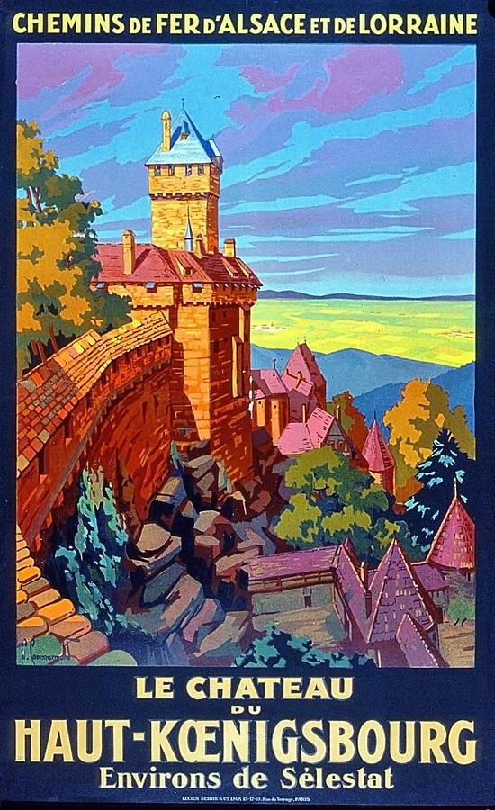 Castle Painting - Haut Koenigsburg Castle, Alsace, France by Long Shot