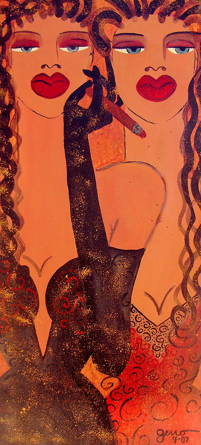 Cigar Magazine Painting - Haute Couture Cigar by Helen Gerro