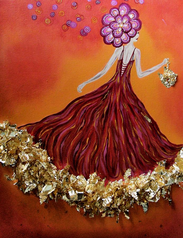 Gown Painting - Haute Couture Sunset by Samantha Kulchar
