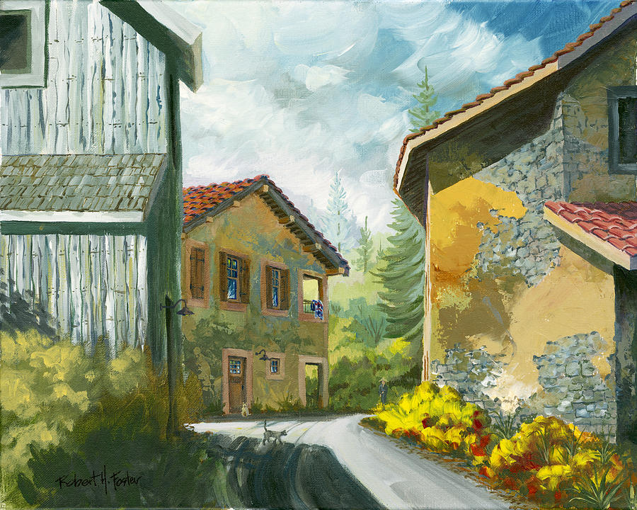 France Painting - Haute Savoie Chat by Robert Foster