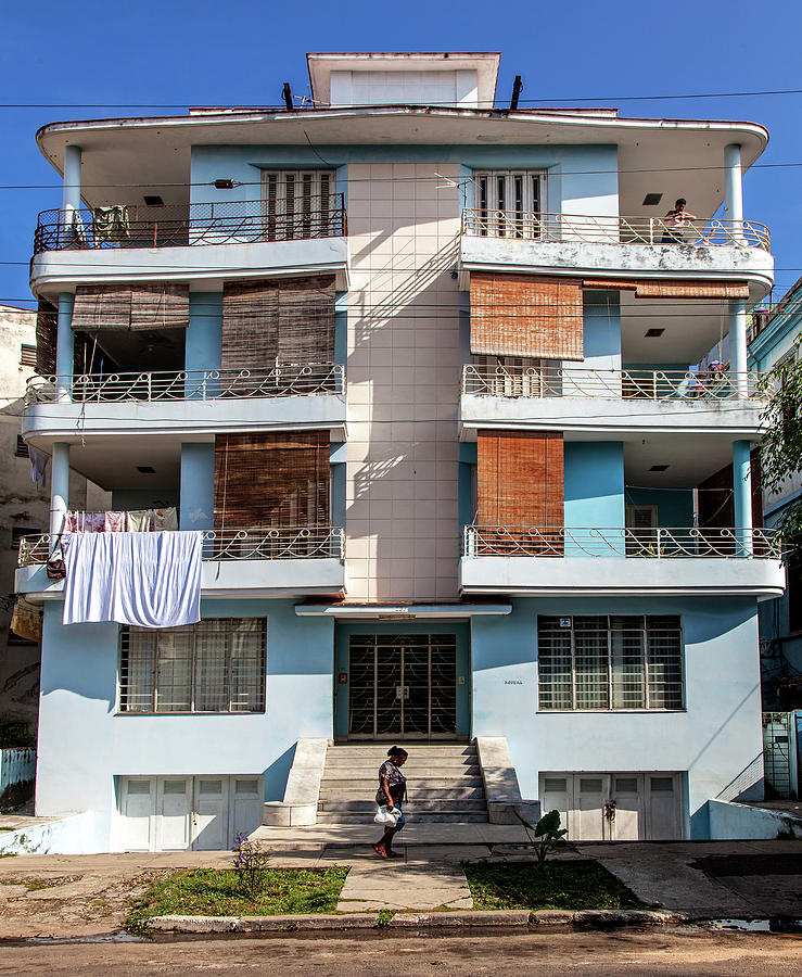 Havana Cuba Apartment Building by Charles Harden