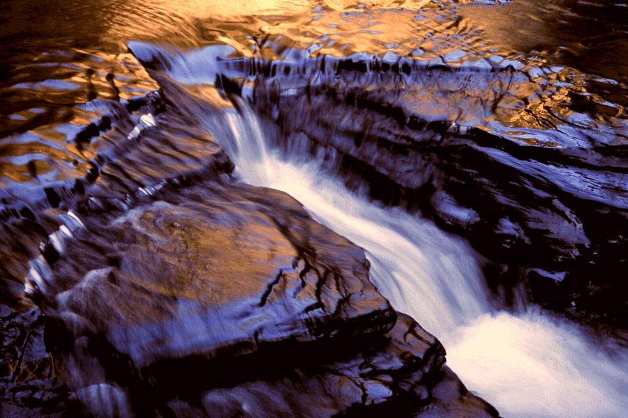 Abstract Photograph - Havana Glen Reflection by Roger Soule