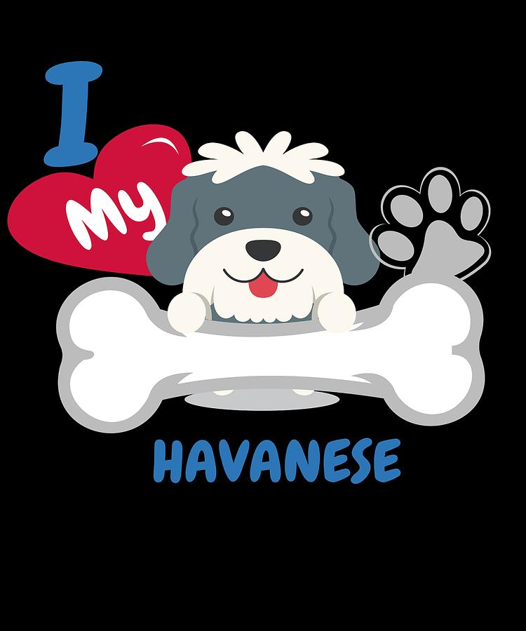 Cute Dog Digital Art - Havanese Cute Dog Gift Idea Funny Dogs by DogBoo  sc 1 st  Pixels & Havanese Cute Dog Gift Idea Funny Dogs Digital Art by DogBoo