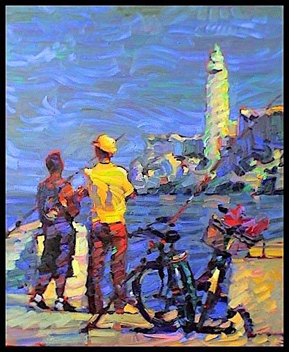 Figurative Painting - Havannah  by Leif  Ostlund
