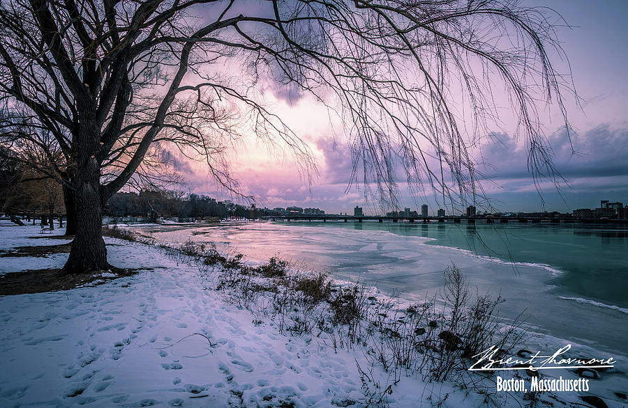 Havard Bridge Sunset Photograph by Brent Shavnore