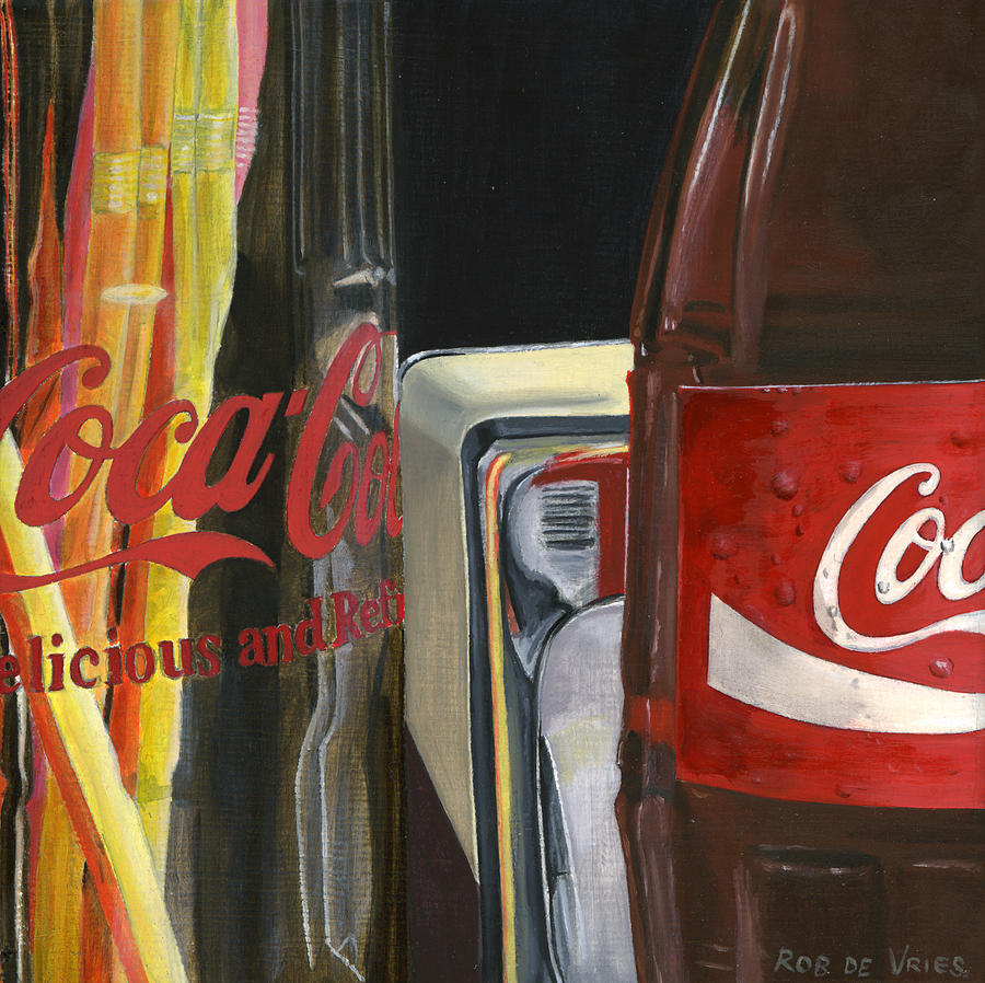 Coca Painting - Have A Coke... by Rob De Vries