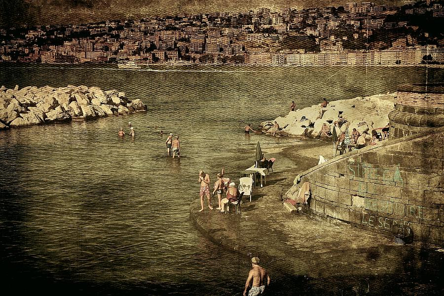 Having a swim in Naples by Vittorio Chiampan