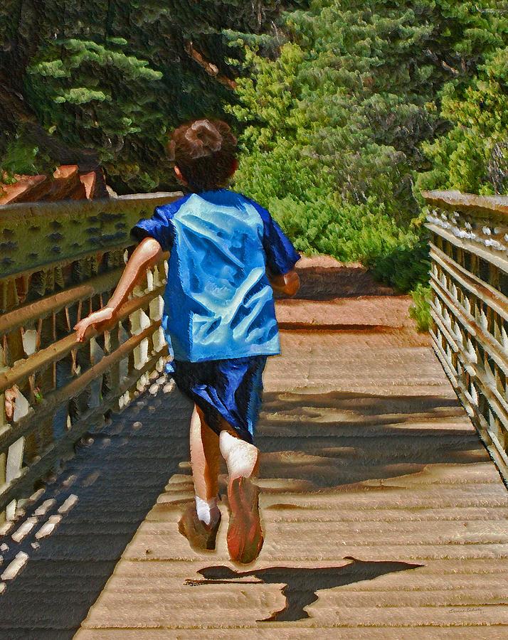 Kid Photograph - Having Fun by Ernie Echols