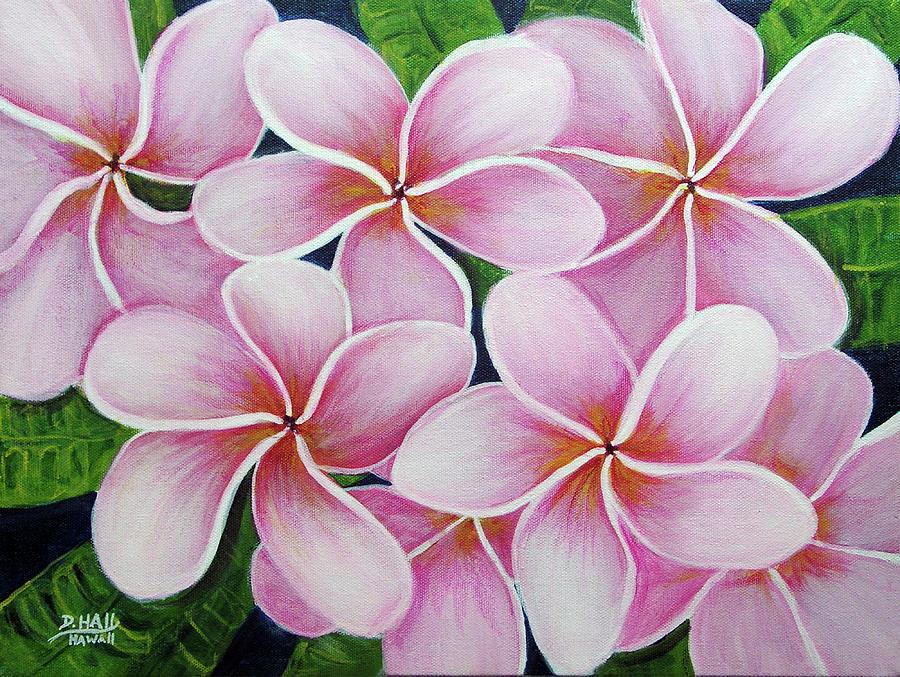 Plumeria Painting - Hawaii An Tropical Plumeria Flower #338 by Donald k Hall