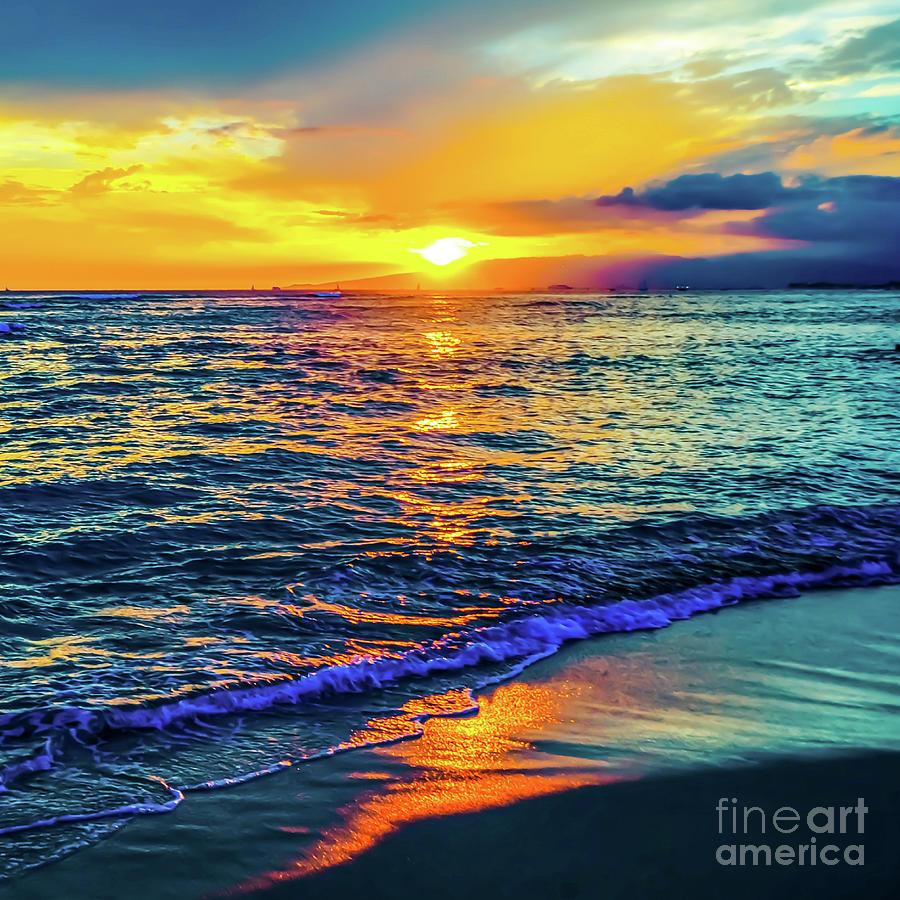 Hawaii Beach Sunset by D Davila