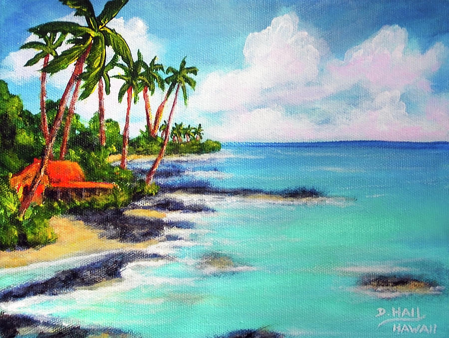 Hawaii North Shore Oahu #472 Painting by Donald k Hall