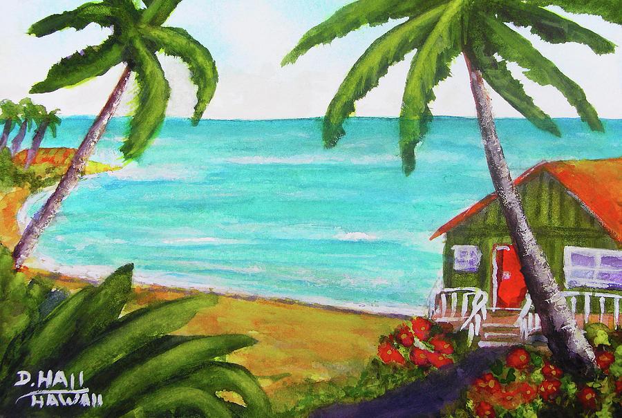 Hawaii Painting - Hawaii Tropical Beach Art Prints Painting #418 by Donald k Hall