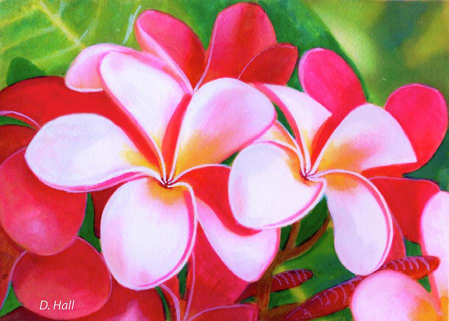 Plumeria Painting - Hawaii Tropical Plumeria Flower #212 by Donald k Hall