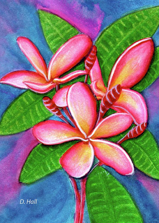 Plumeria Painting - Hawaii Tropical Plumeria Flower #243 by Donald k Hall
