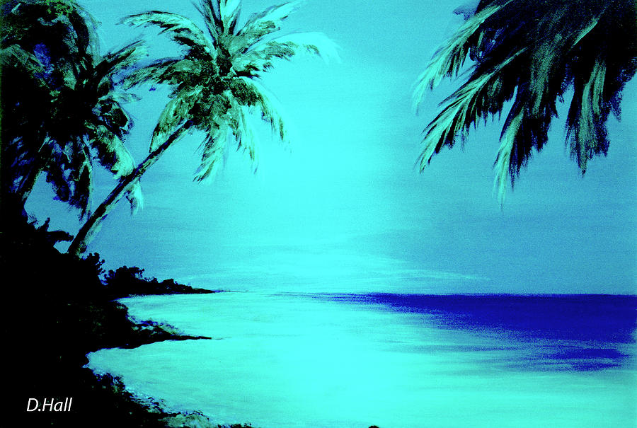 Beach Seascape Painting - Hawaiian Beach Art Painting #188 by Donald k Hall