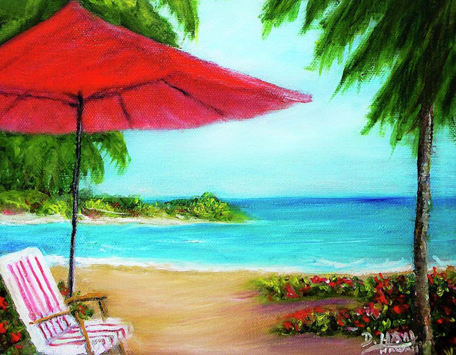 Hawaiian Painting - Hawaiian Beach Wave Art Print Painting #441 by Donald k Hall