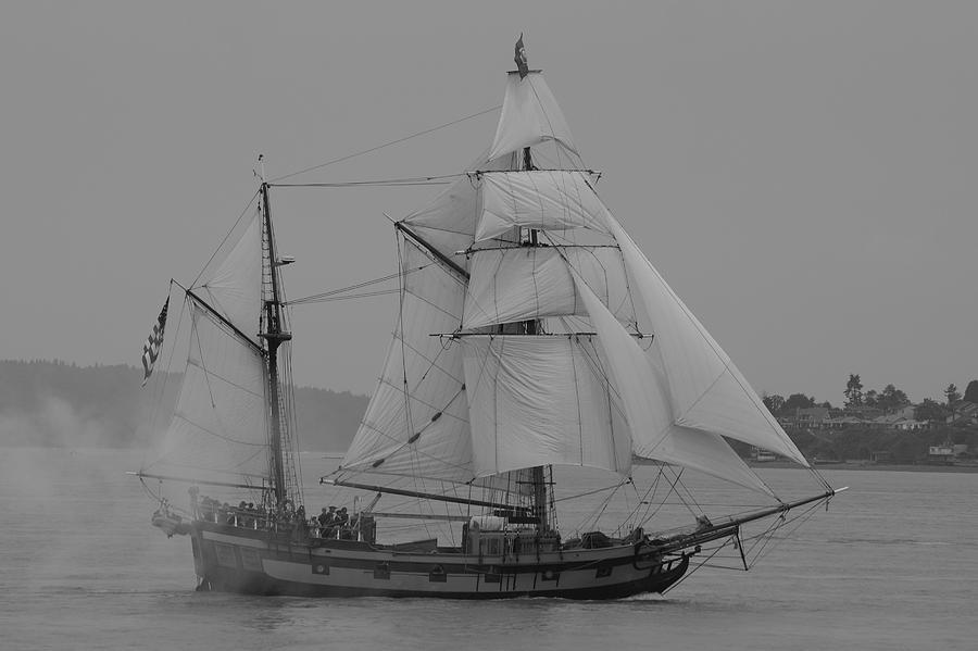 Tall Ships Photograph - Hawaiian Chieftan by Sonja Anderson