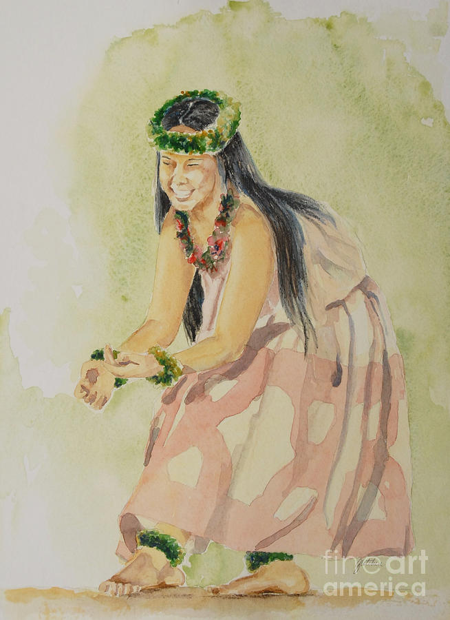 Hawaii Painting - Hawaiian Dancer by Gretchen Bjornson