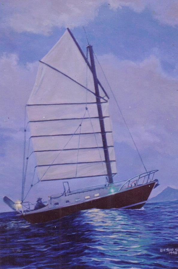 Seascape Painting - Hawaiian Dawn by Leif Thor Kvammen
