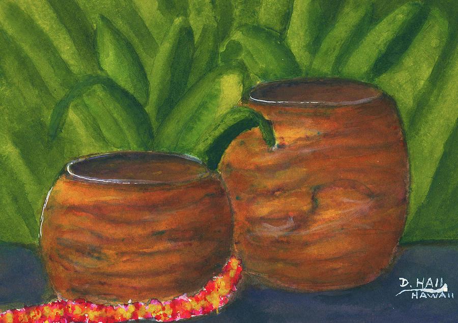 Painting Painting - Hawaiian Koa Wooden Bowls #426 by Donald k Hall