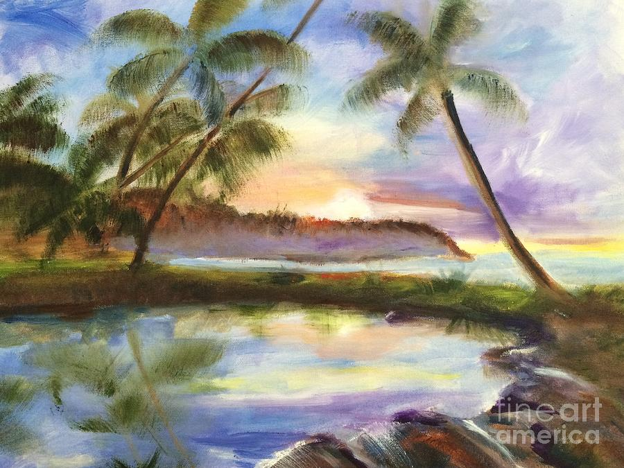 Hawaiian Landscape Painting By Nancy Anton