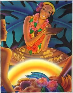 Hawaii Painting - Hawaiian Luau  by Terry Lamb