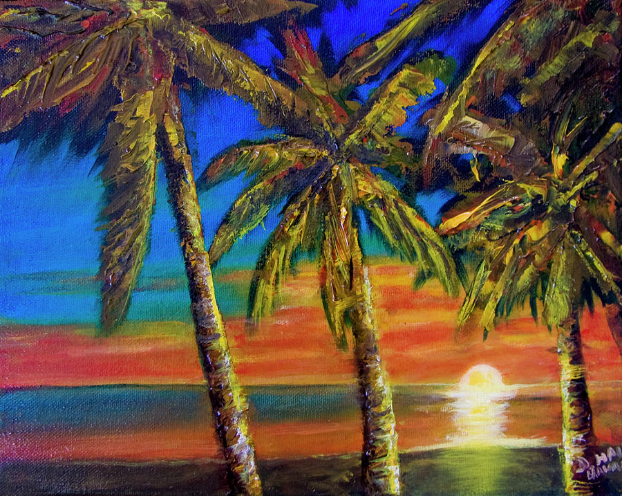 Hawaiian Moon Painting - Hawaiian Moon #404 by Donald k Hall