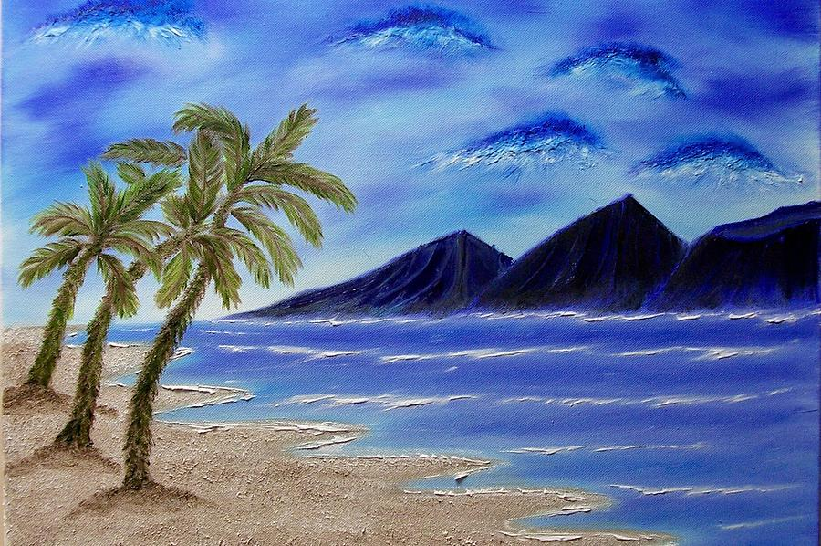 Palm Tree Painting - Hawaiian Palms by Marie Lamoureaux