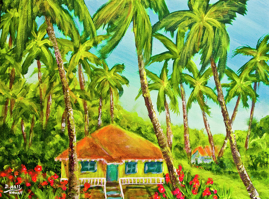 Hawaii Painting - Hawaiian Plantation Home #390 by Donald k Hall