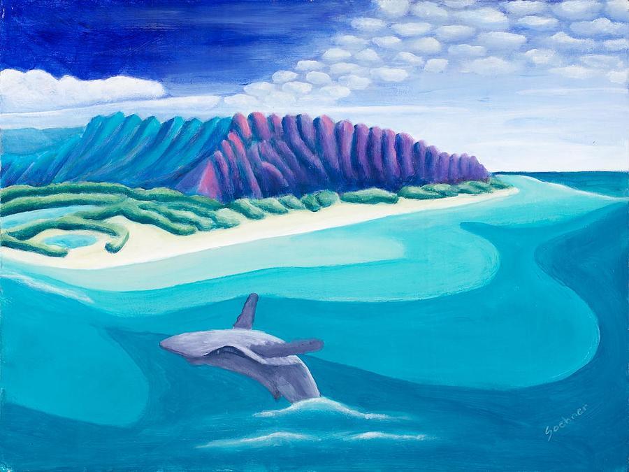 Landscape Painting - Hawaiian Playground by Lynn Soehner