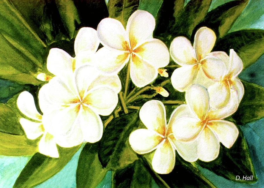 Plumeria Painting - Hawaiian Plumeria #56 by Donald k Hall