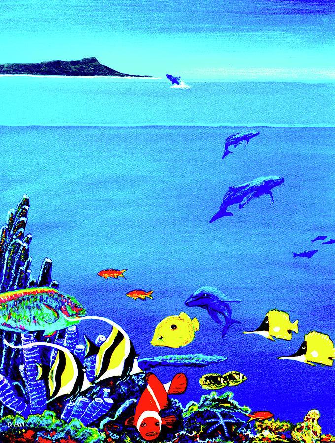 Painting Painting - Hawaiian Reef Fish Nimo #193 by Donald k Hall