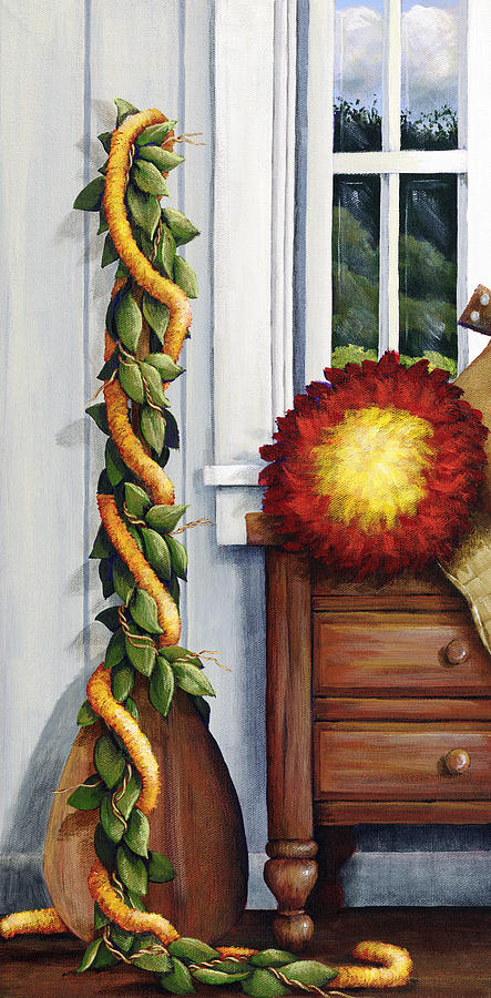 Acrylic Painting - Hawaiian Still Life Panel by Sandra Blazel - Printscapes