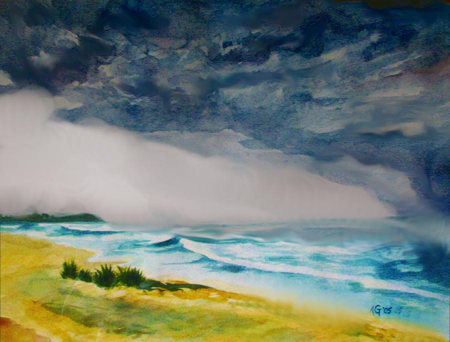 Hawaii Painting - Hawaiian Storm by Andrew Gillette