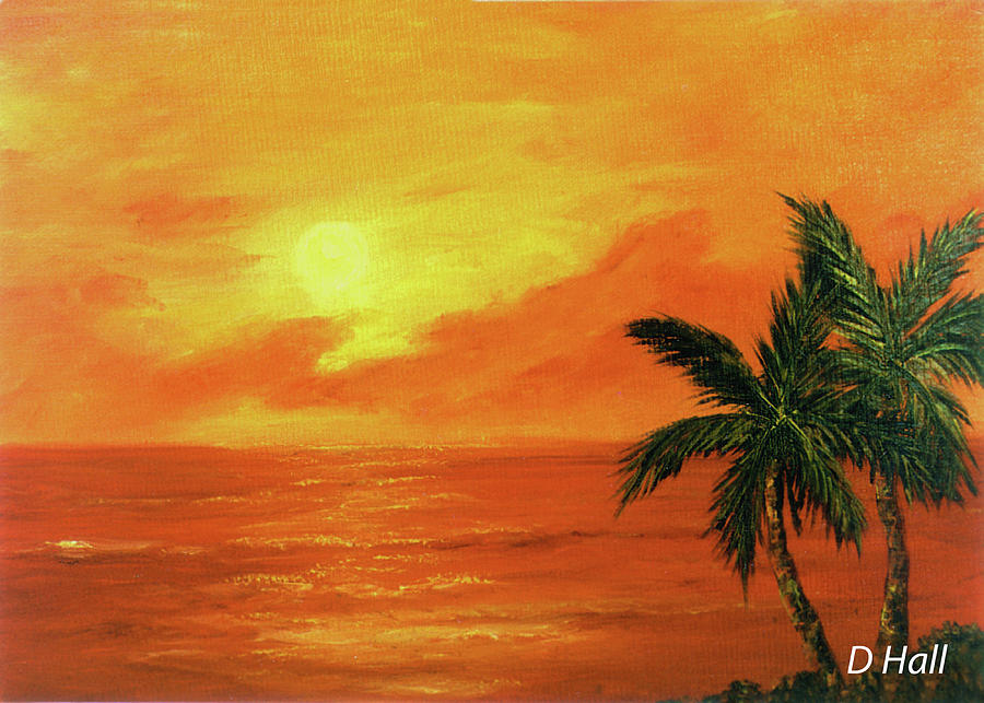 Hawaii Sunset Painting - Hawaiian Sunset #27 by Donald k Hall