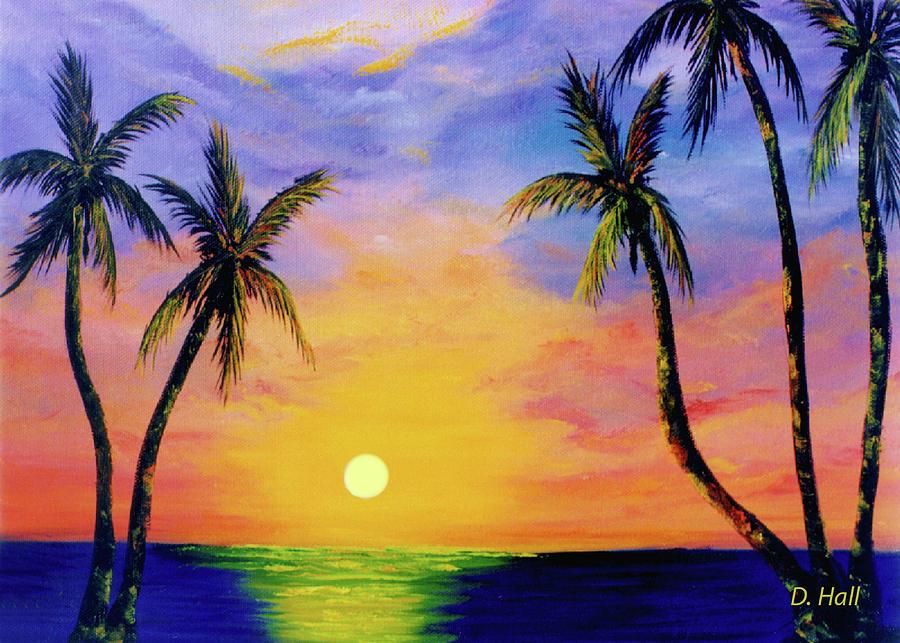 Hawaii Painting - Hawaiian Sunset #36 by Donald k Hall